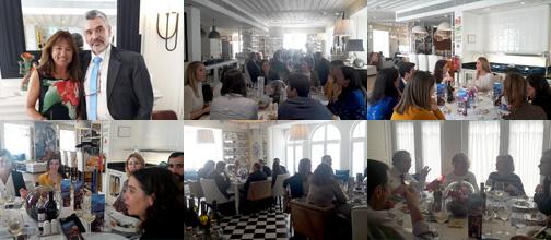 Almuerzo del 5 de Julio con D. Manuel Amil Lago gerente de AMILAXA Group y la Dra. Cristina Passos Curadora da Fundação LIGA