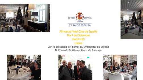 Almuerzo Casa de España - Restaurante Hotel H10 - Jueves 7 de Diciembre