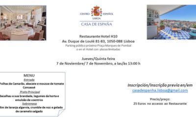 Almuerzo del 7 de Noviembre – Casa de España – Restaurante Hotel H10