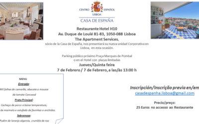 Almuerzo del 7 de Febrero Casa de España Restaurante Hotel H10