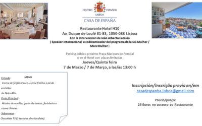 Almuerzo del 7 de Marzo – Casa de España – Restaurante Hotel H10