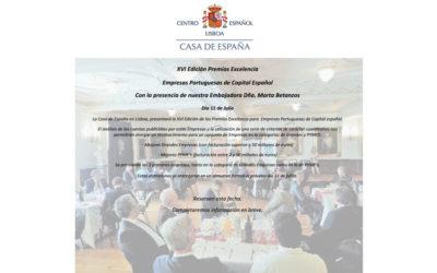 XVI Edición Premios Excelencia – Empresas Portuguesas de Capital Español – 11 de Julio